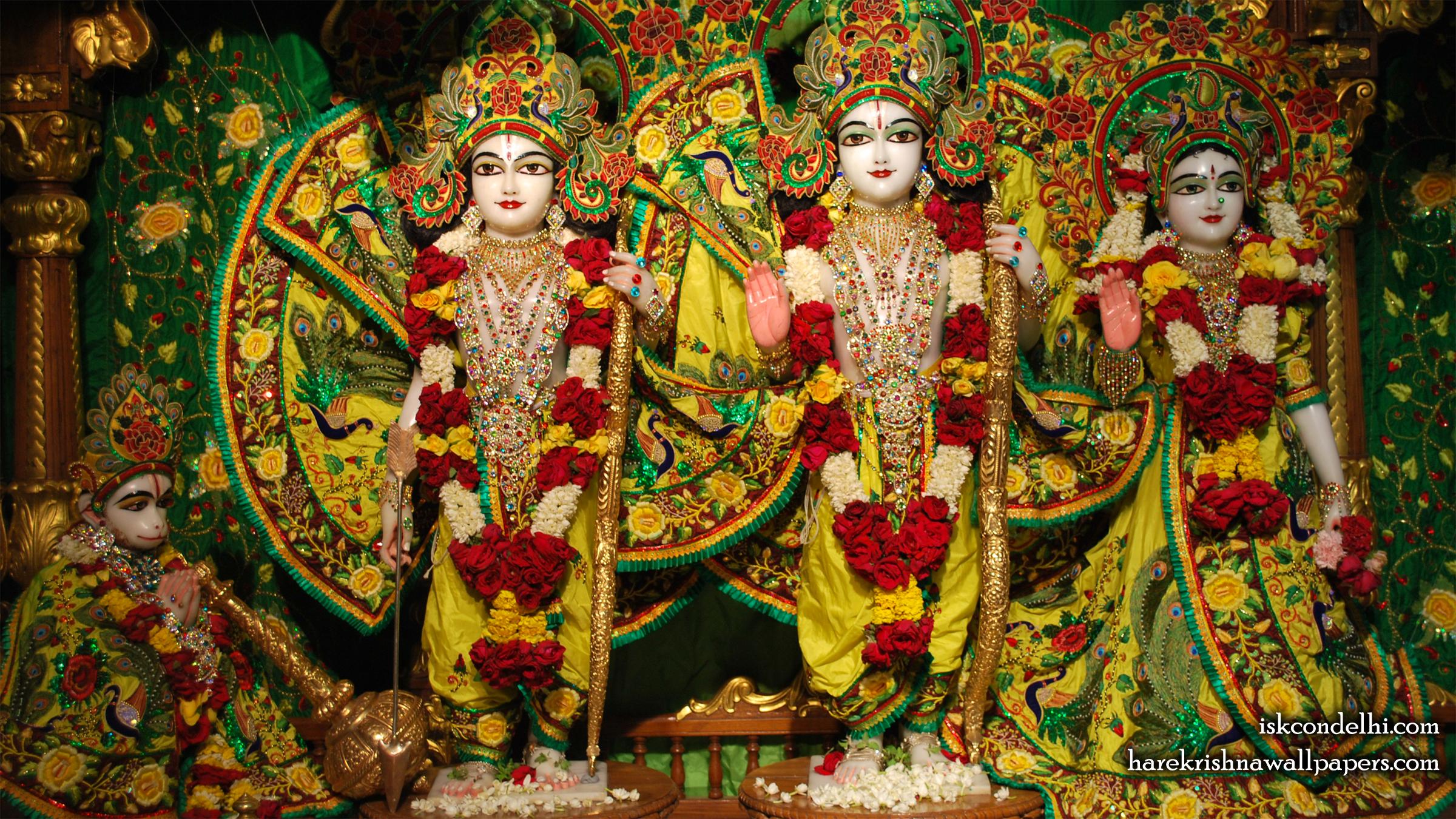 Sri Sri Sita Rama Laxman Hanuman Wallpaper (015) Size 2400x1350 Download