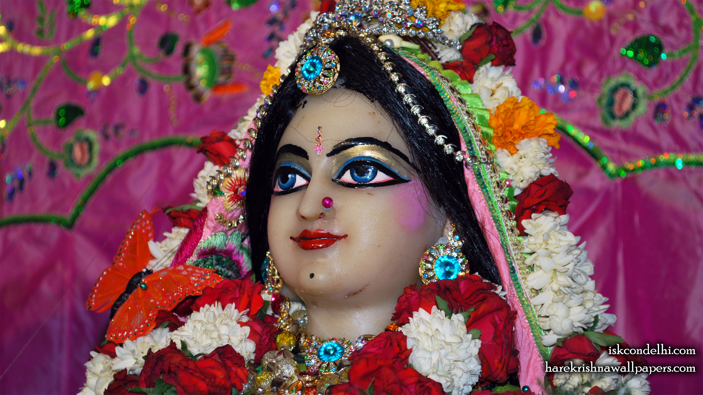 Sri Radha Close up Wallpaper (016) Size 2400x1350 Download