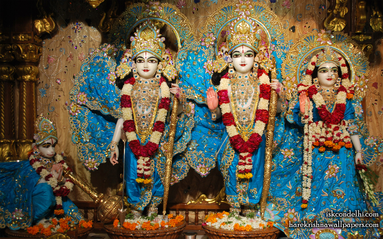 Sri Sri Sita Rama Laxman Hanuman Wallpaper (016) Size 1280x800 Download