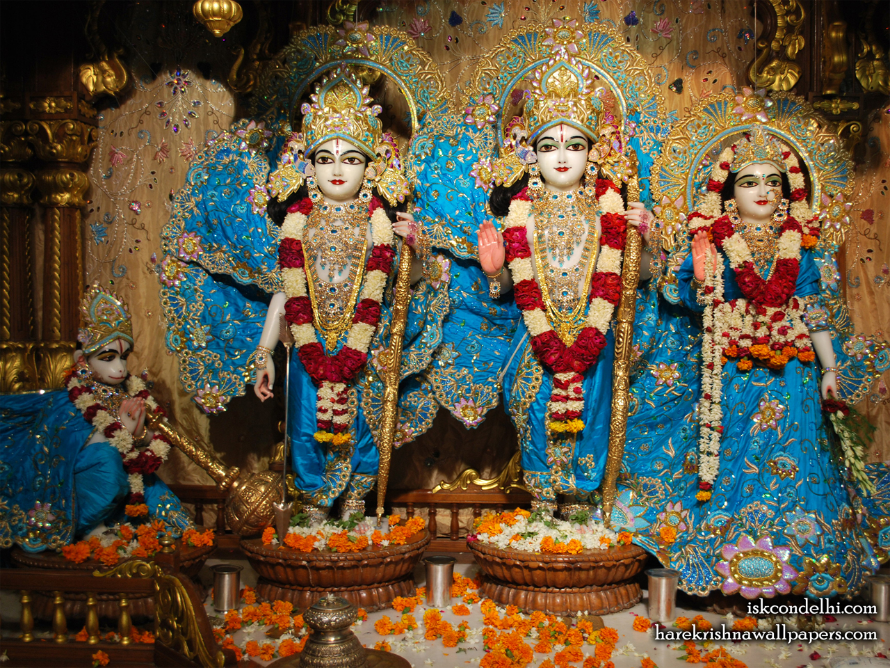 Sri Sri Sita Rama Laxman Hanuman Wallpaper (016) Size 1280x960 Download