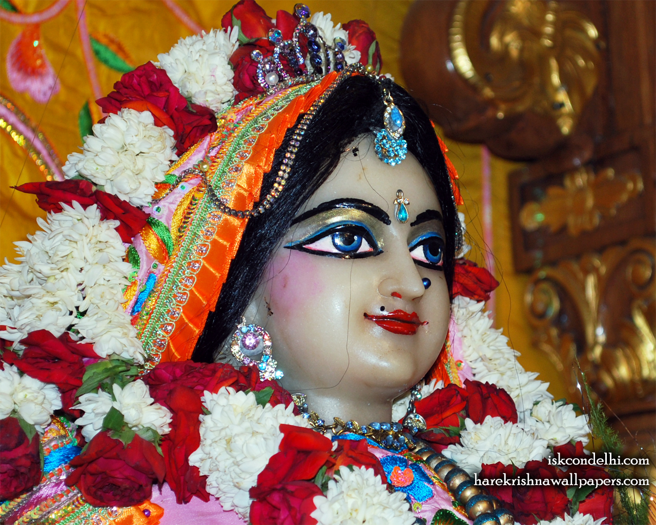 Sri Radha Close up Wallpaper (017) Size 1280x1024 Download