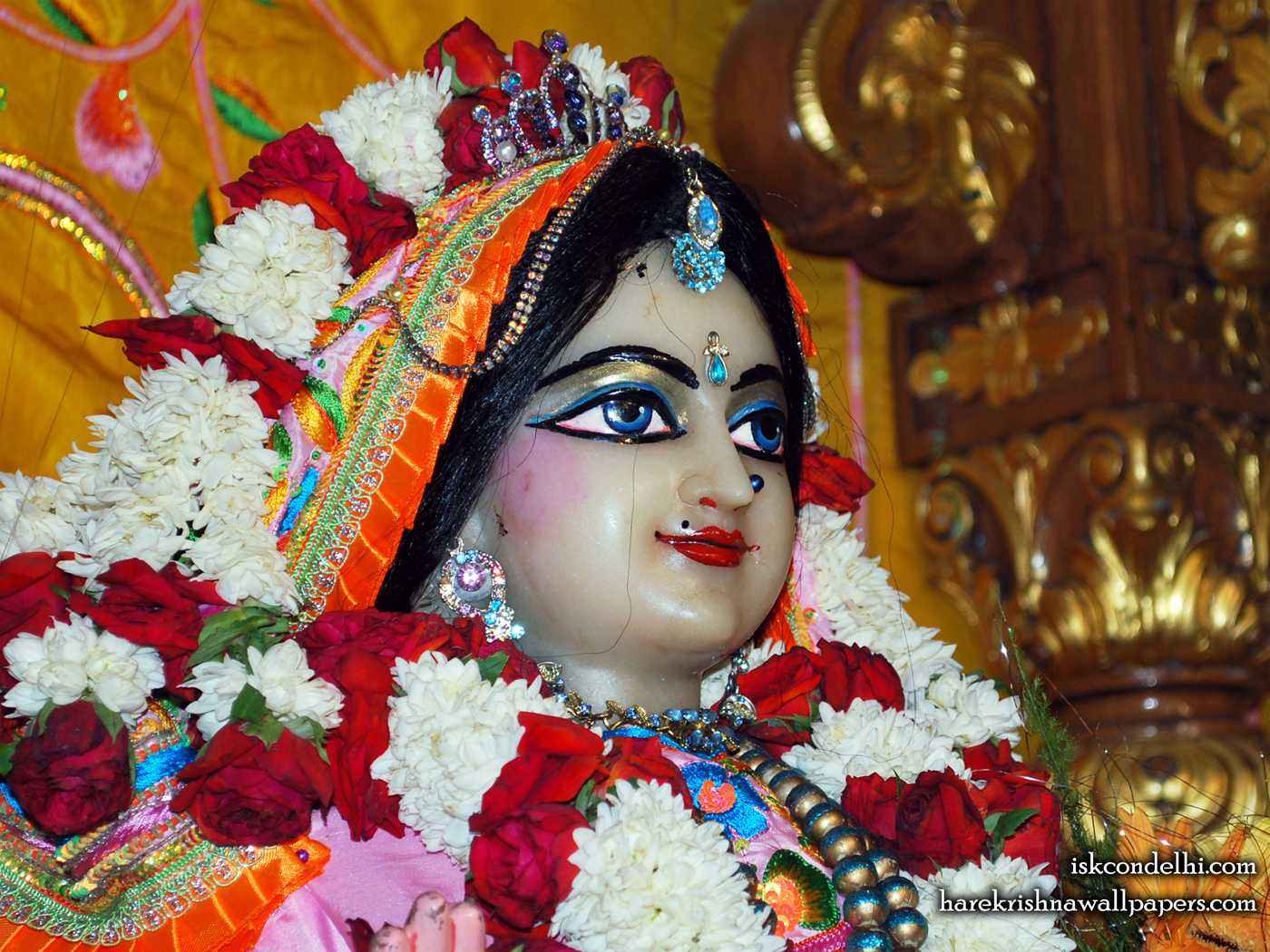 Sri Radha Close up Wallpaper (017) Size 1400x1050 Download
