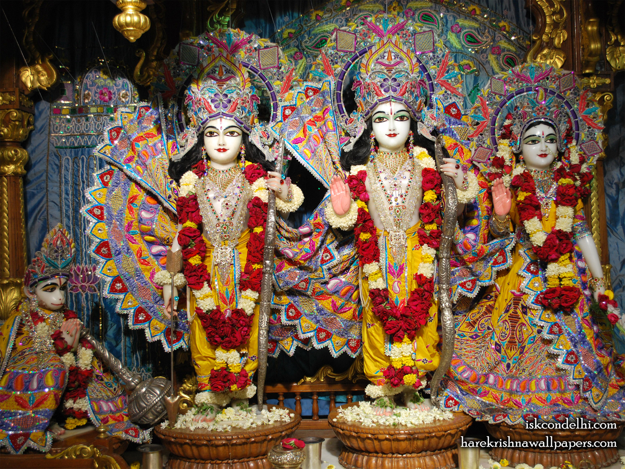 Sri Sri Sita Rama Laxman Hanuman Wallpaper (017) Size 1280x960 Download