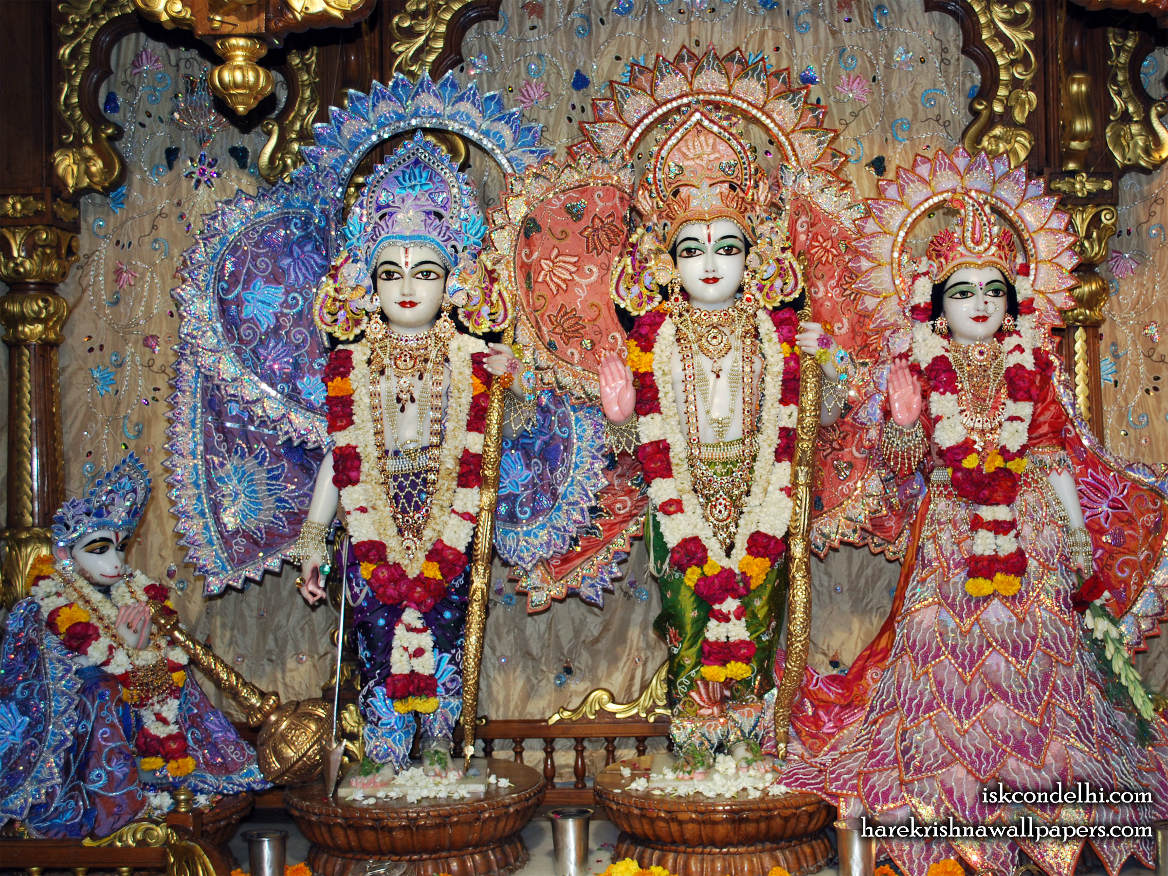 Sri Sri Sita Rama Laxman Hanuman Wallpaper (018) Size 2400x1800 Download