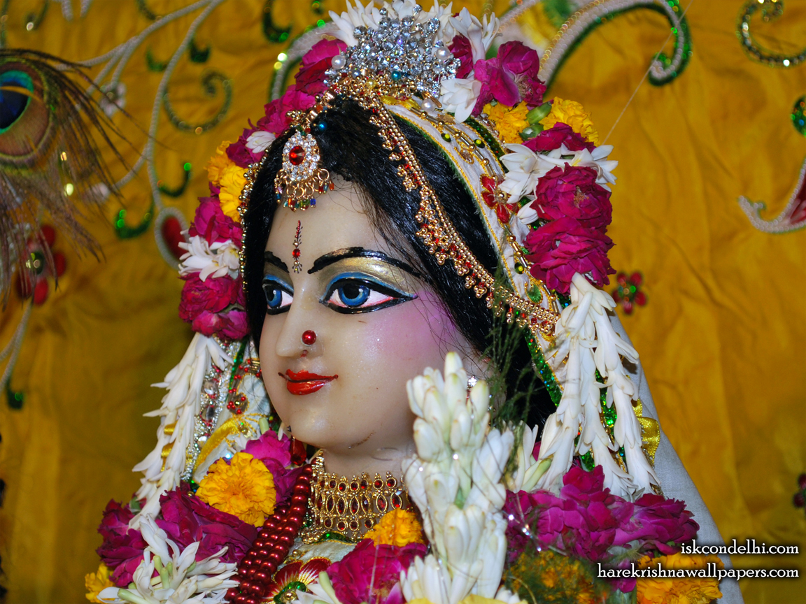Sri Radha Close up Wallpaper (019) Size 1152x864 Download