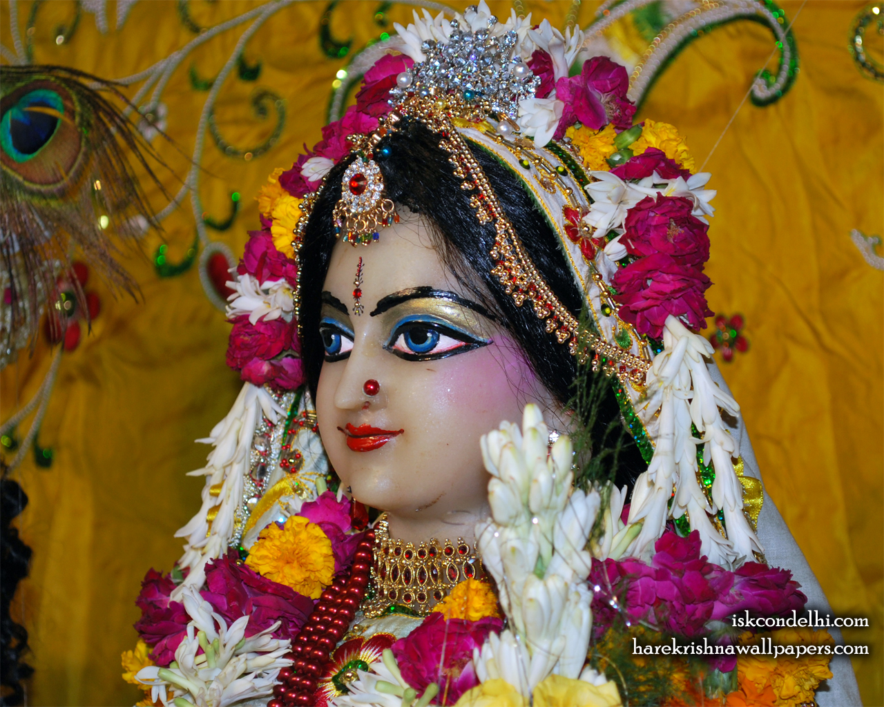 Sri Radha Close up Wallpaper (019) Size 1280x1024 Download