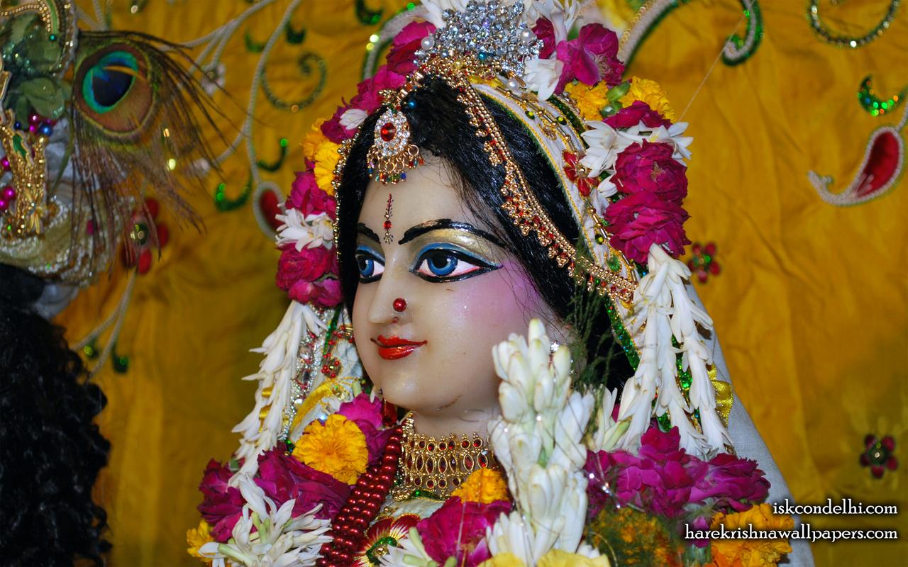 Sri Radha Close up Wallpaper (019) Size 1280x800 Download