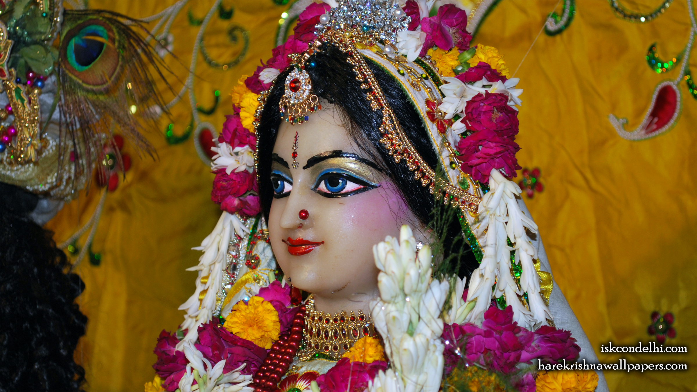 Sri Radha Close up Wallpaper (019) Size 2400x1350 Download