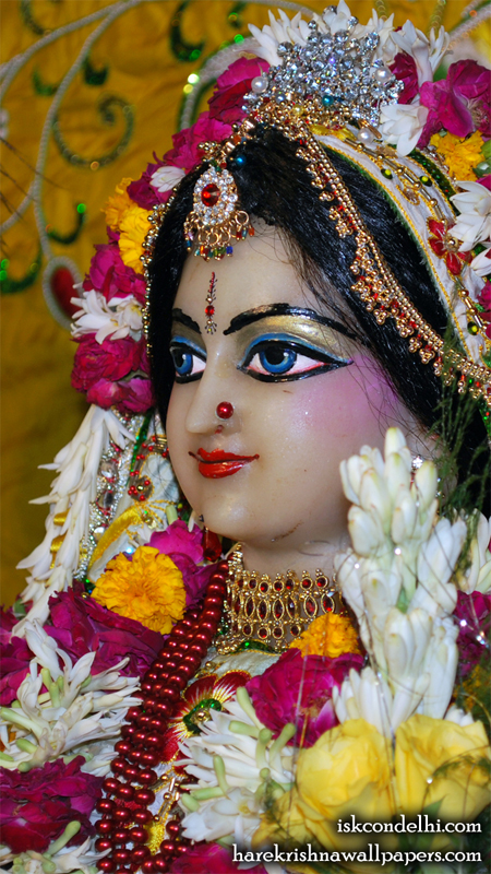 Sri Radha Close up Wallpaper (019) Size 450x800 Download