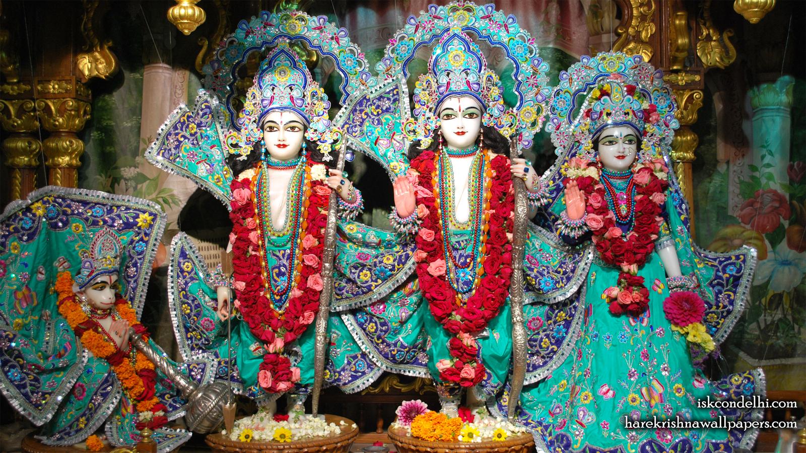 Sri Sri Sita Rama Laxman Hanuman Wallpaper (019) Size 1600x900 Download