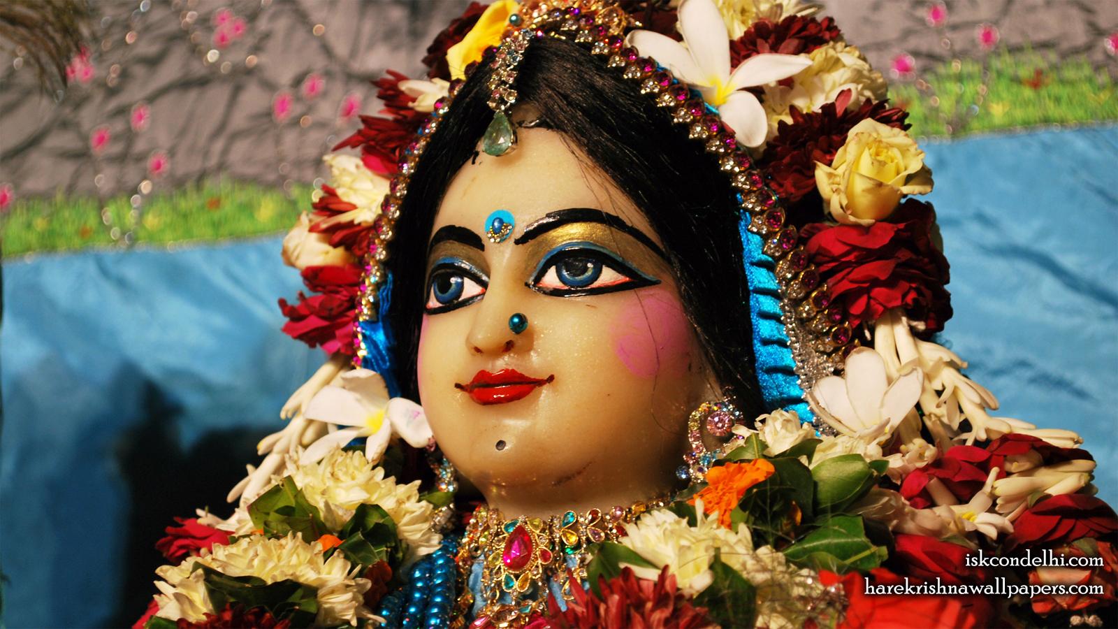 Sri Radha Close up Wallpaper (020) Size 1600x900 Download