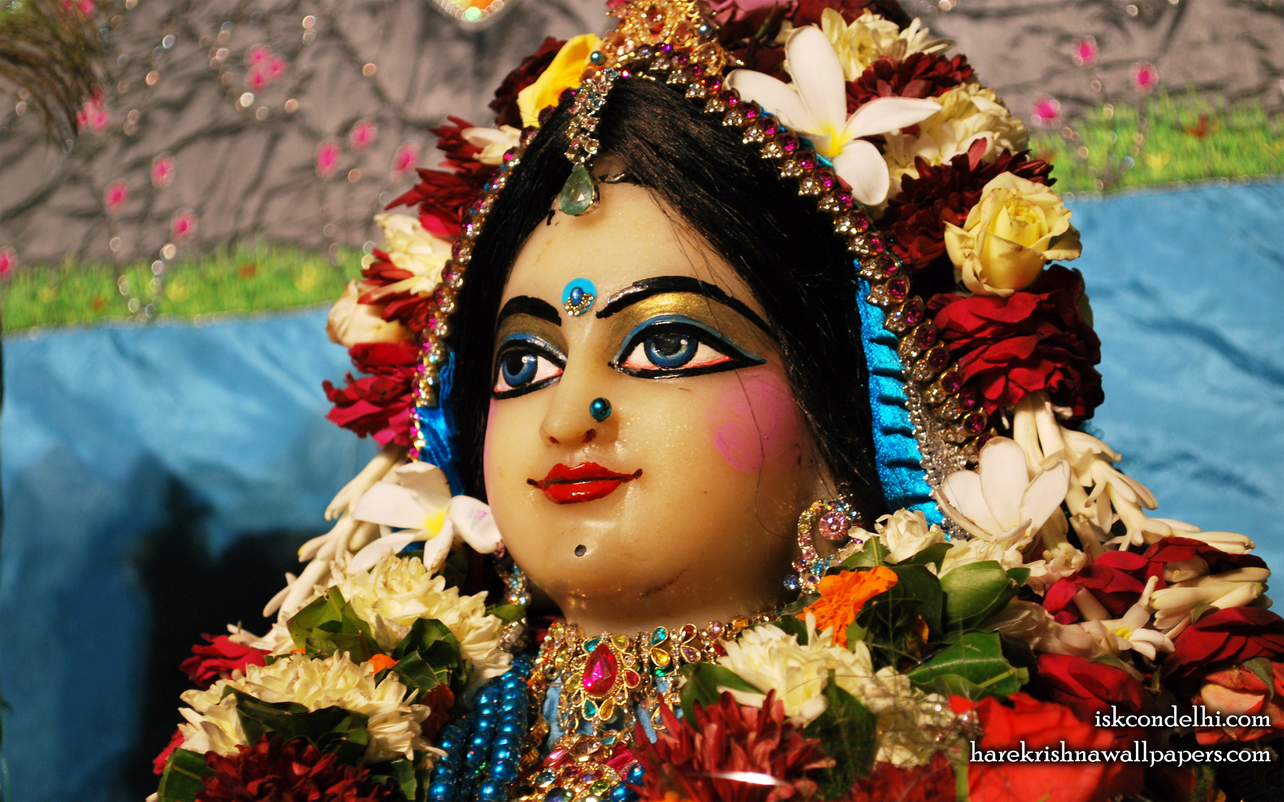 Sri Radha Close up Wallpaper (020) Size 2560x1600 Download