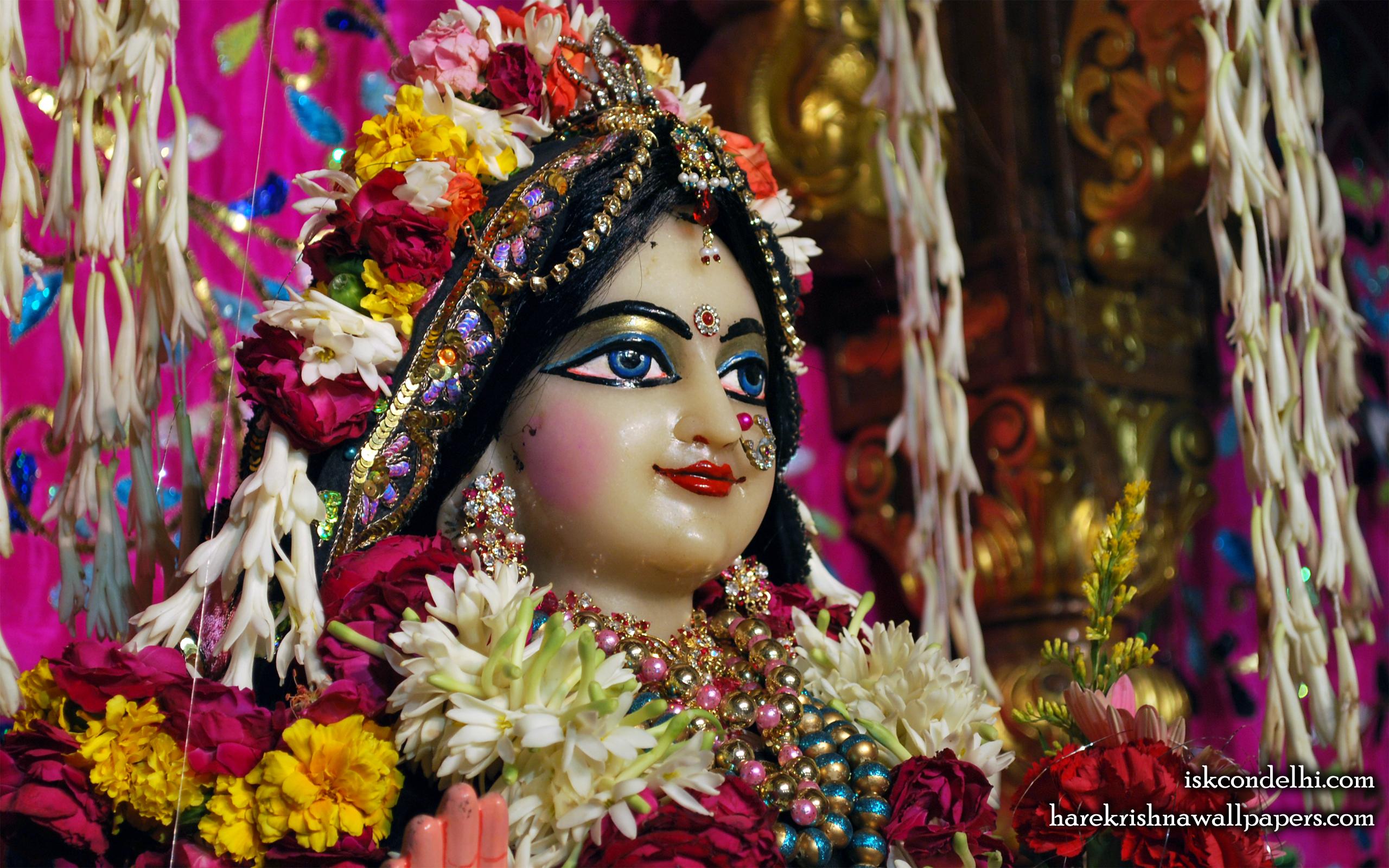 Sri Radha Close up Wallpaper (022) Size 2560x1600 Download