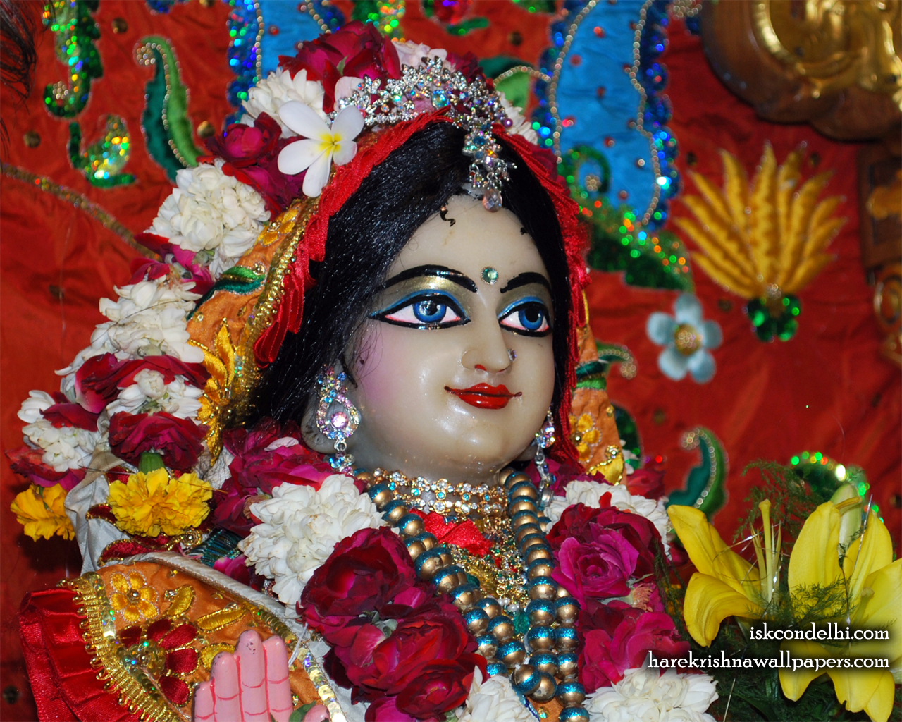 Sri Radha Close up Wallpaper (023) Size 1280x1024 Download
