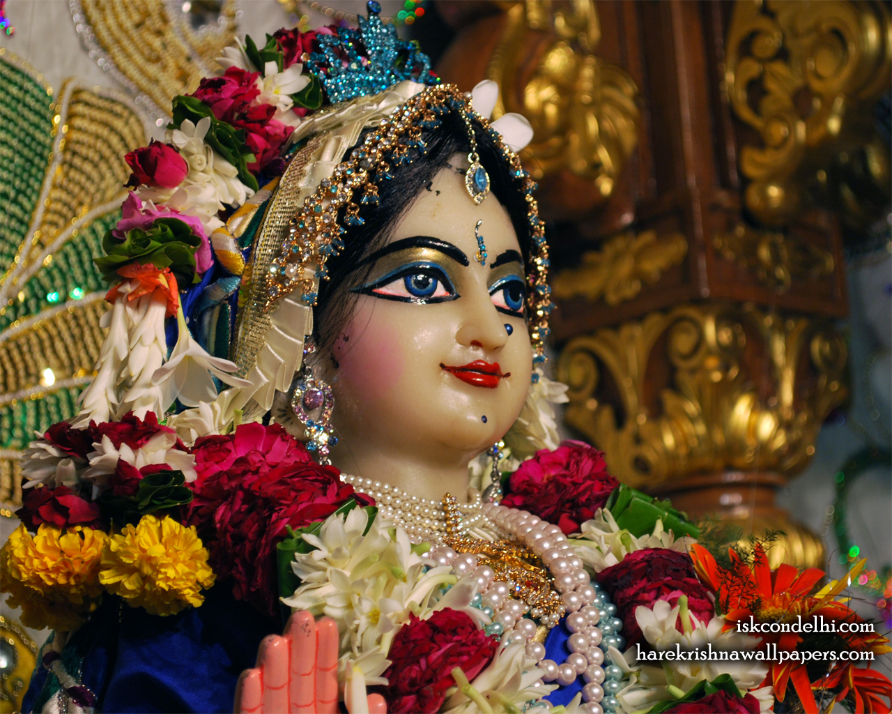 Sri Radha Close up Wallpaper (024) Size 1280x1024 Download