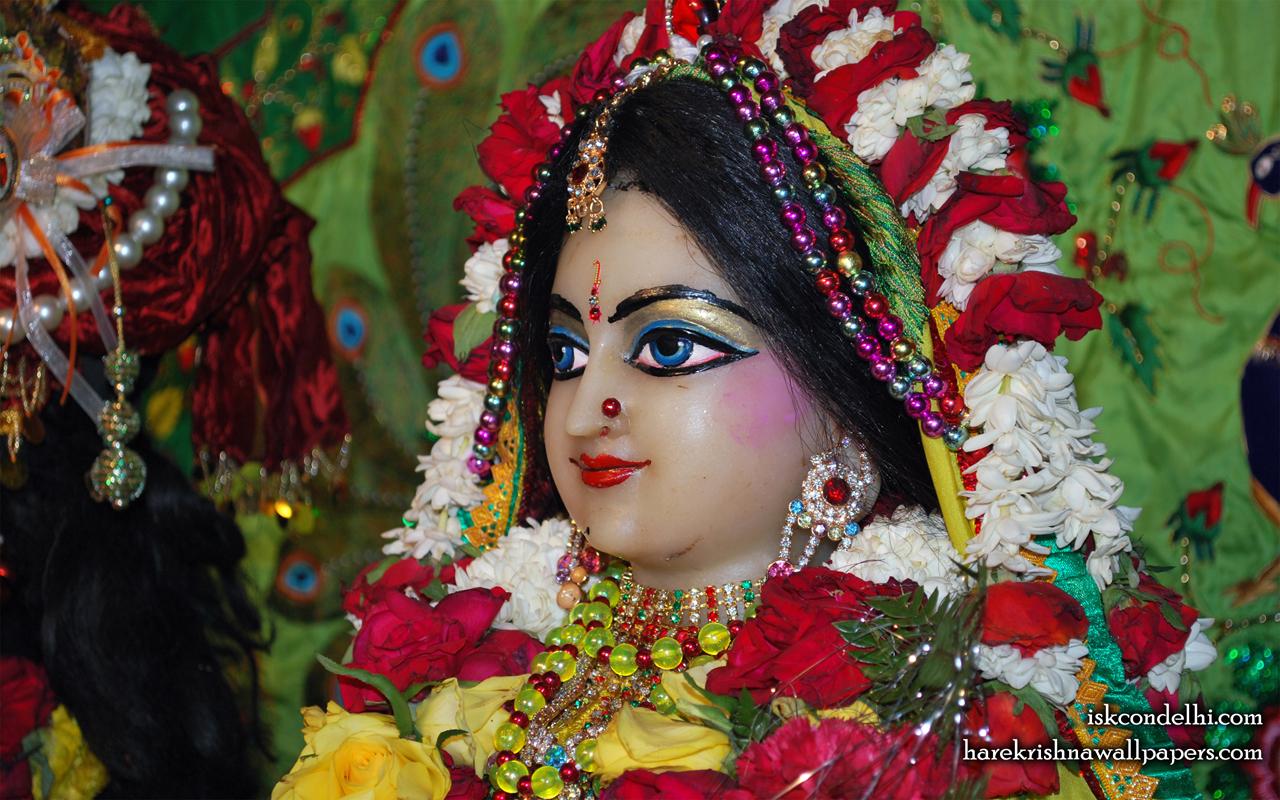 Sri Radha Close up Wallpaper (028) Size 1280x800 Download
