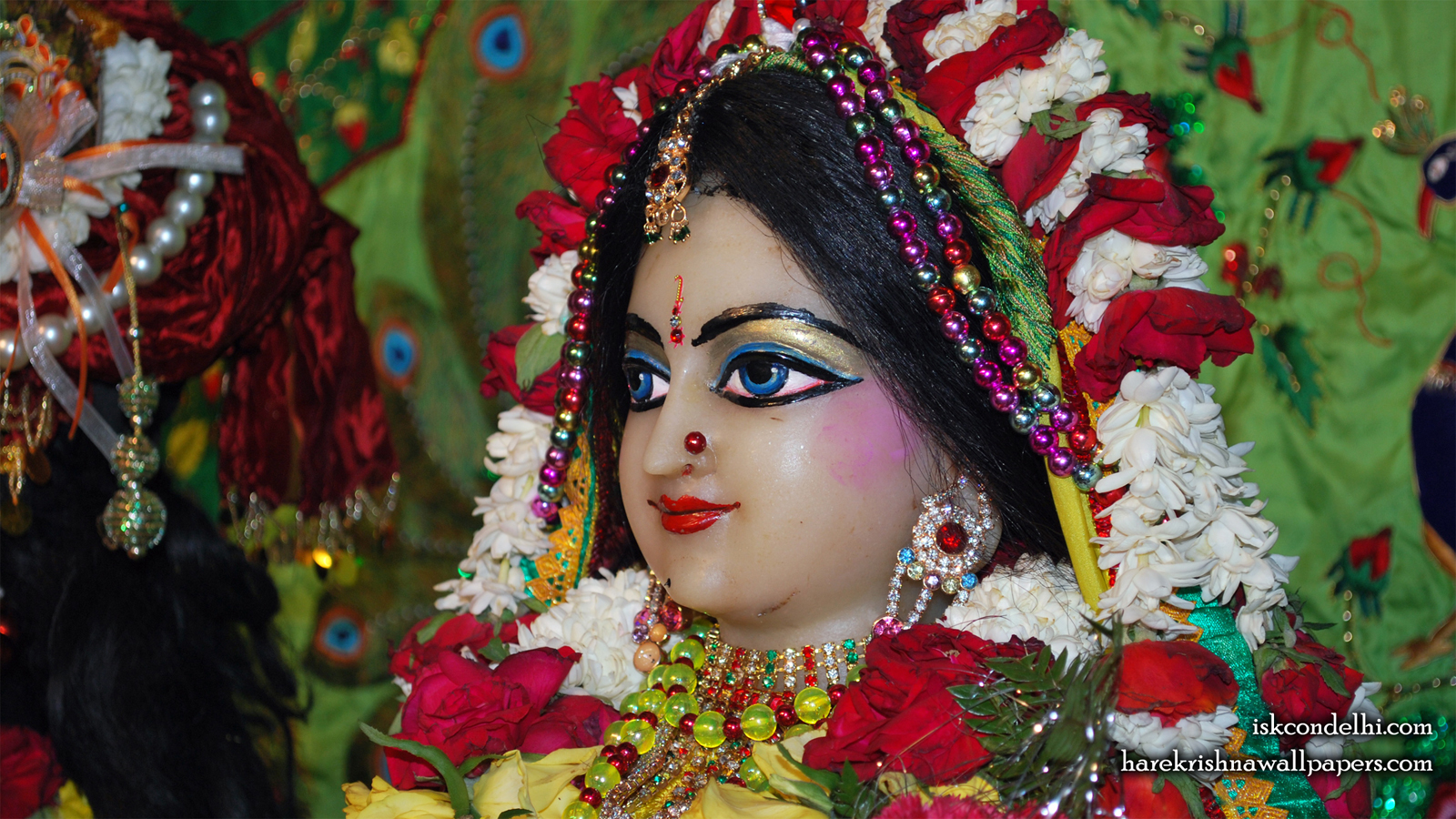 Sri Radha Close up Wallpaper (028) Size 1600x900 Download
