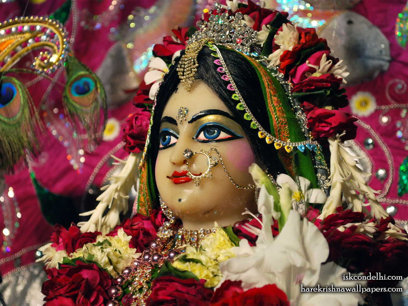 Sri Radha Close up Wallpaper (029) Size 1400x1050 Download