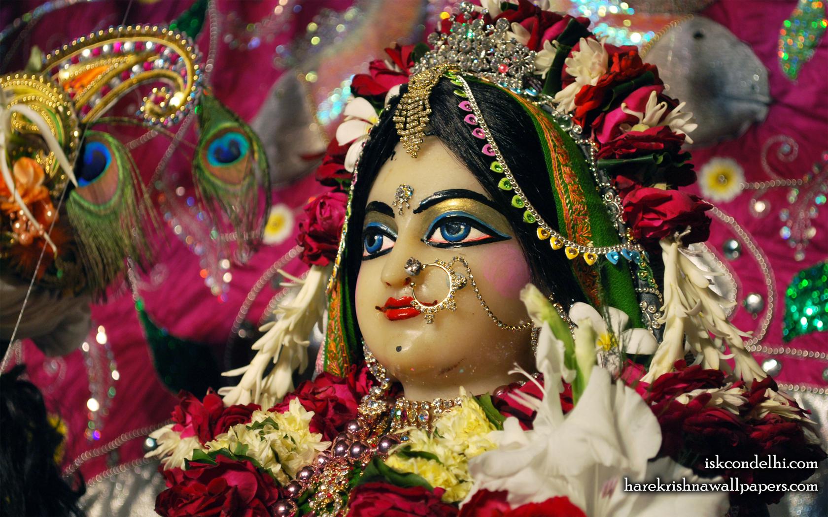 Sri Radha Close up Wallpaper (029) Size 1680x1050 Download