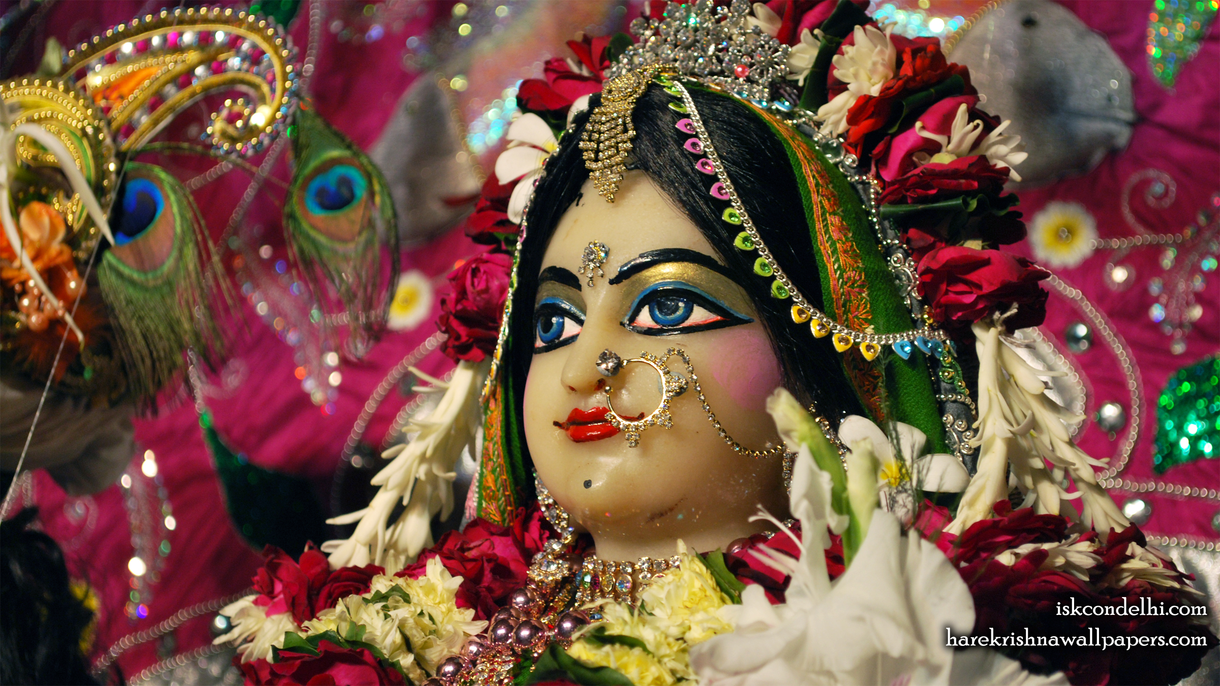 Sri Radha Close up Wallpaper (029) Size 2400x1350 Download