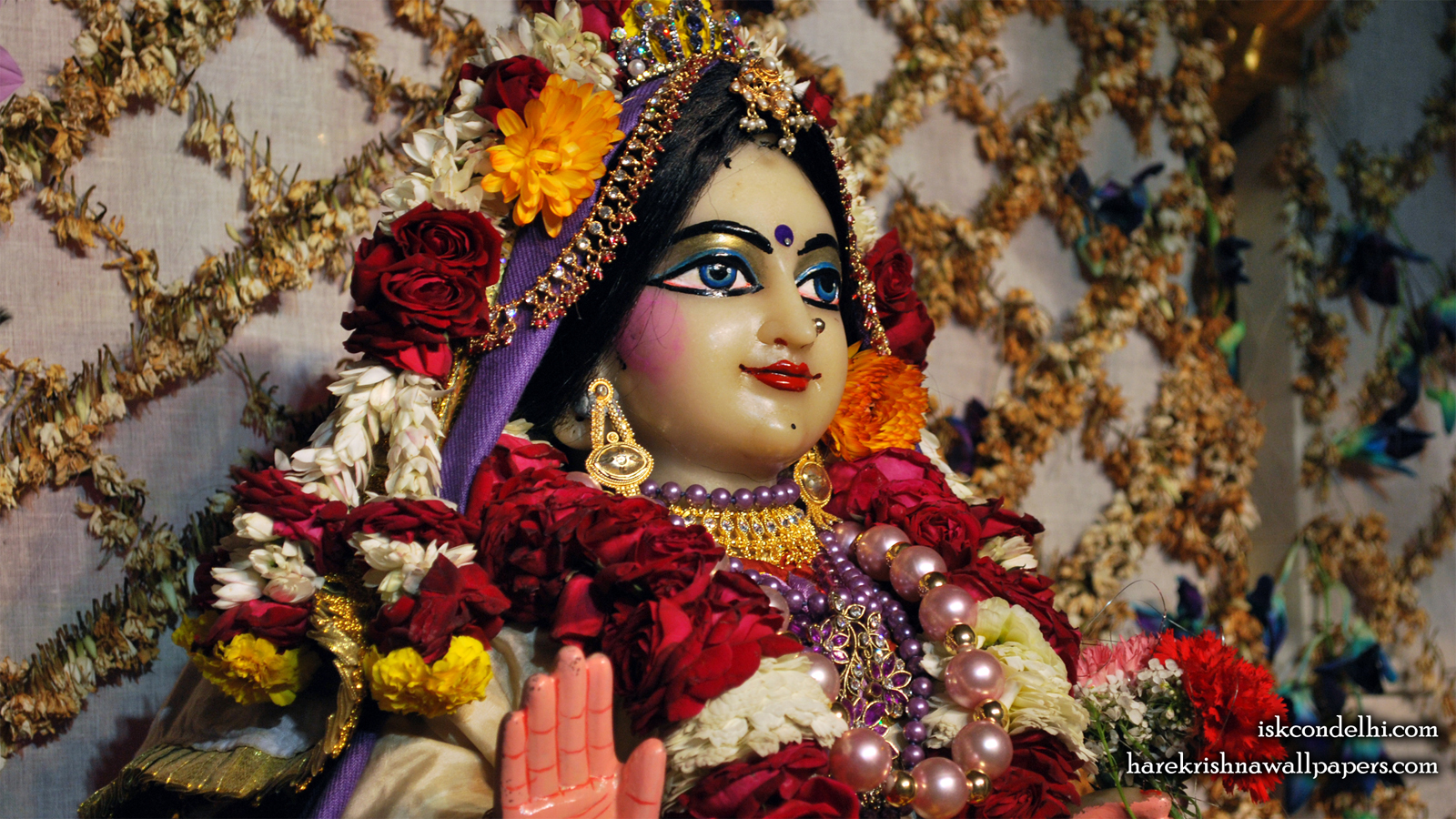 Sri Radha Close up Wallpaper (030) Size 1600x900 Download