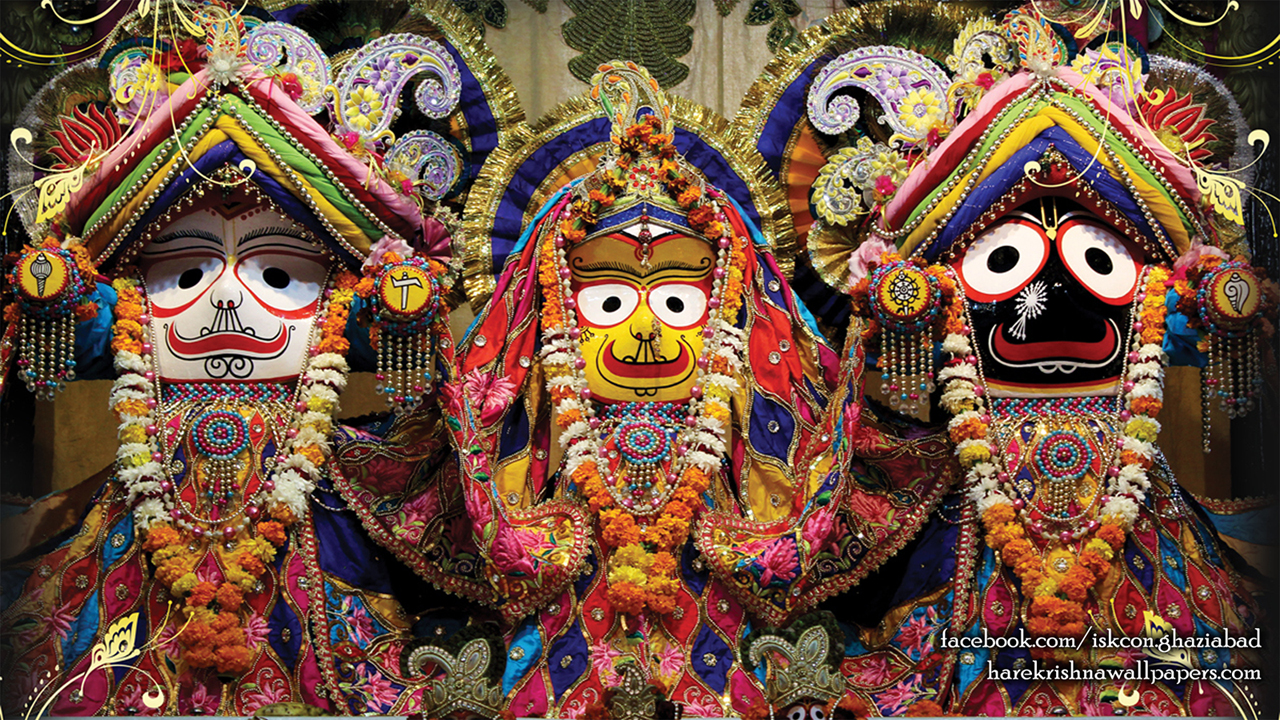 Jagannath Baladeva Subhadra Wallpaper (001) Size 1280x720 Download