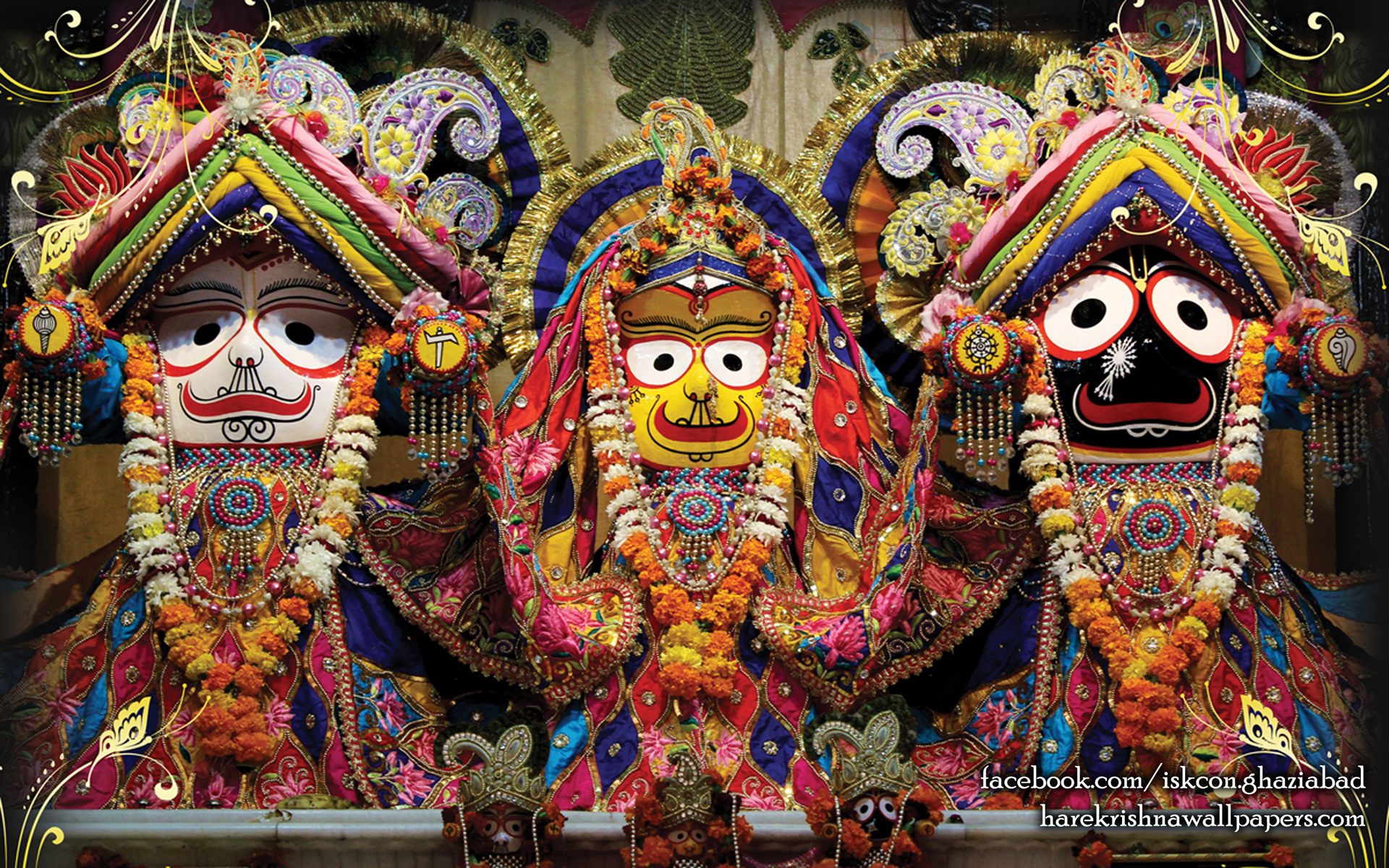 Jagannath Baladeva Subhadra Wallpaper (001) Size 1920x1200 Download