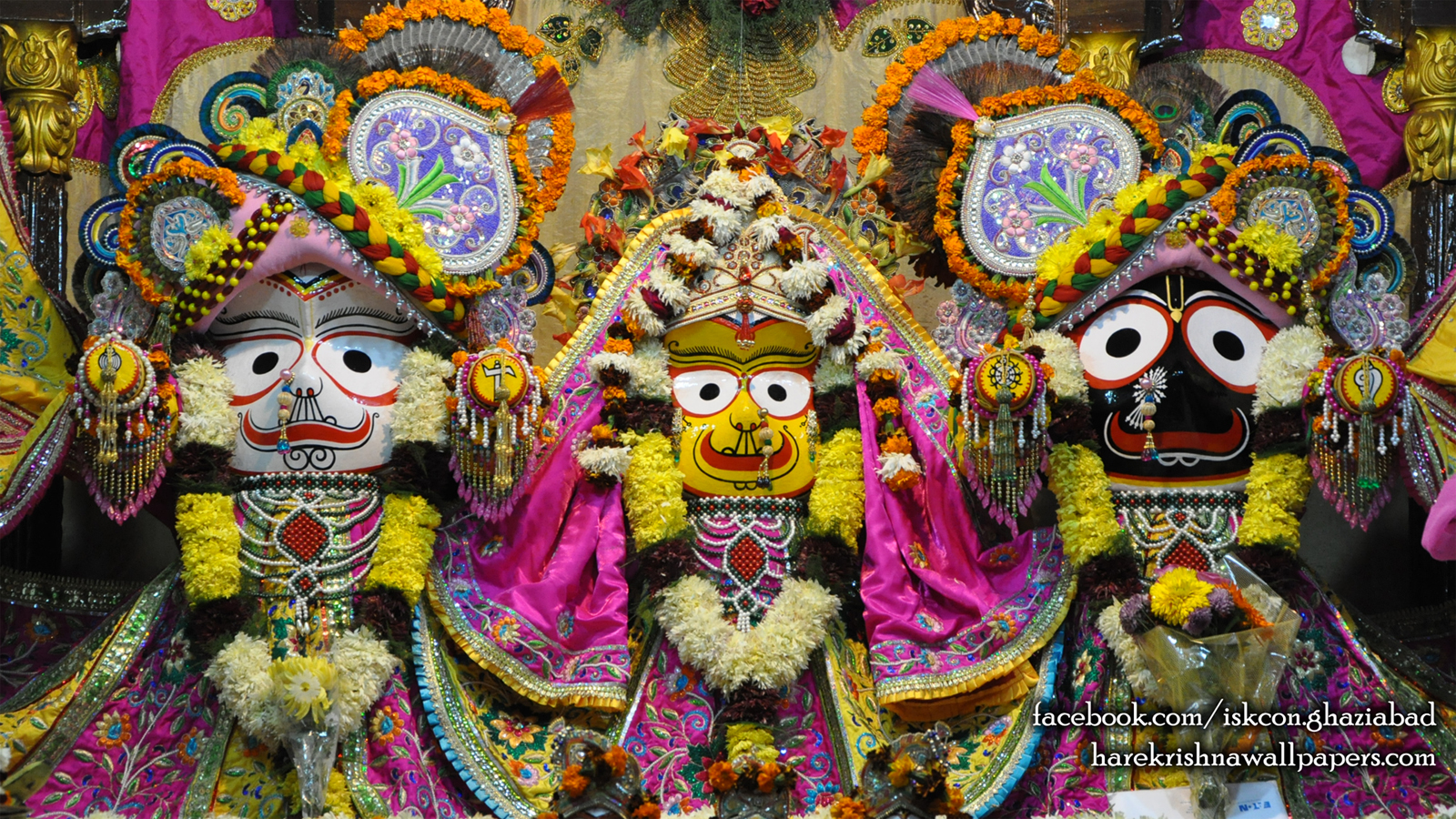 Jagannath Baladeva Subhadra Wallpaper (002) Size 1600x900 Download