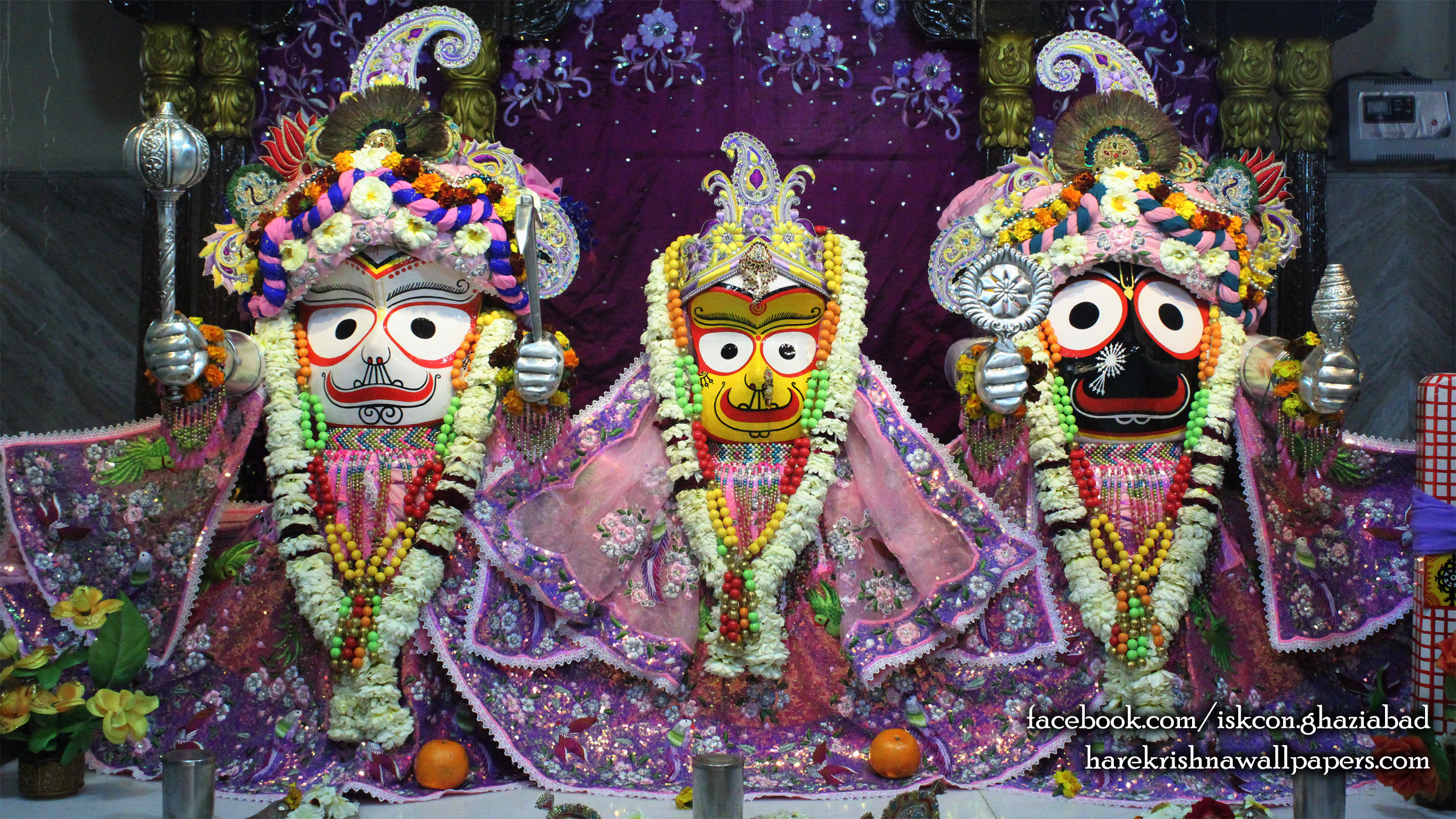 Jagannath Baladeva Subhadra Wallpaper (003) Size 2400x1350 Download