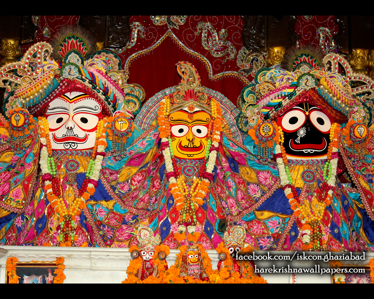 Jagannath Baladeva Subhadra Wallpaper (005) Size 1280x1024 Download