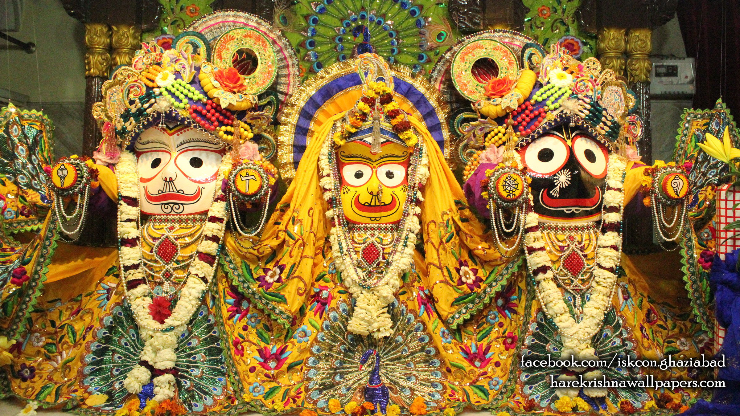 Jagannath Baladeva Subhadra Wallpaper (008) Size 2400x1350 Download