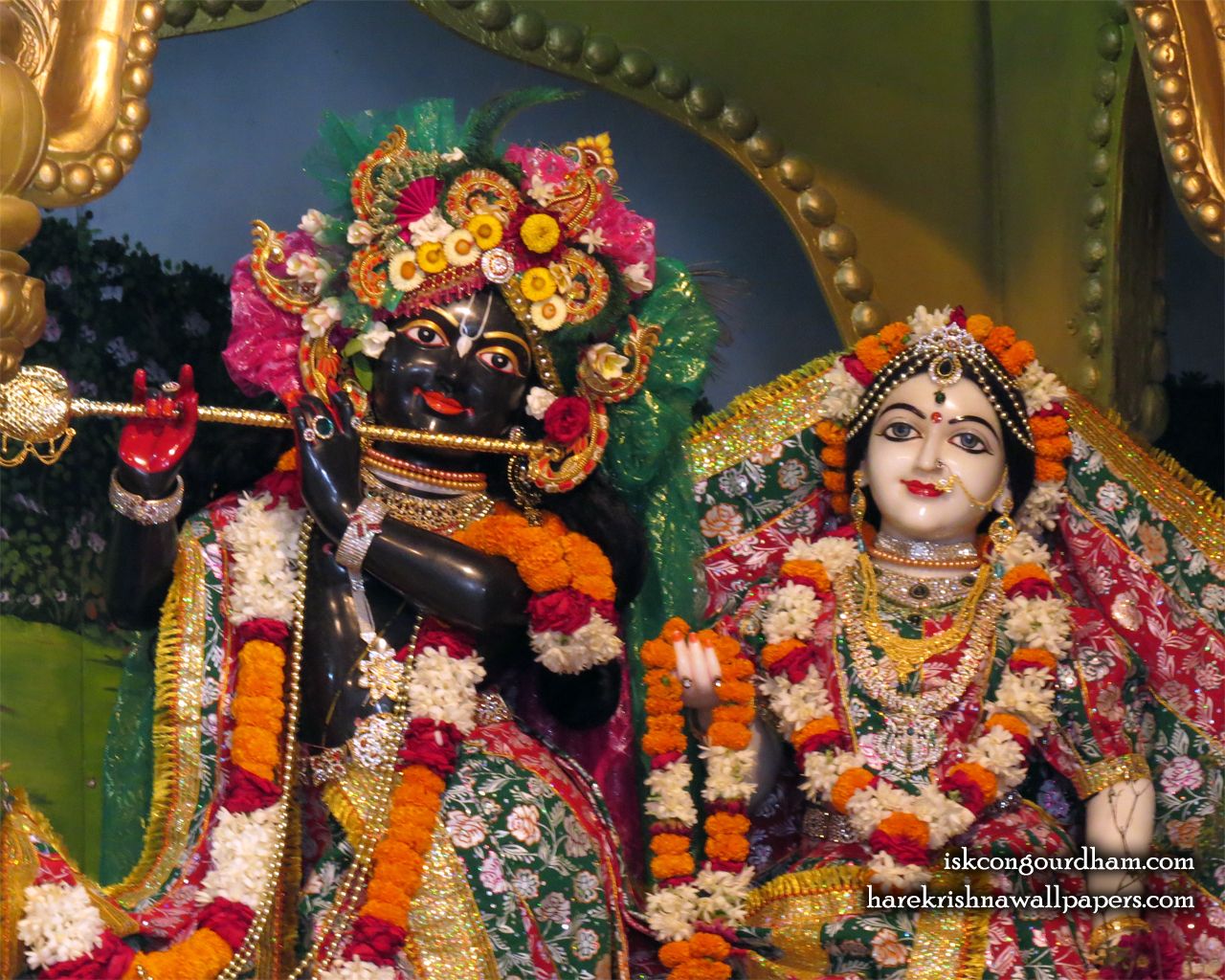 Sri Sri Radha Madhava Close up Wallpaper (001) Size 1280x1024 Download