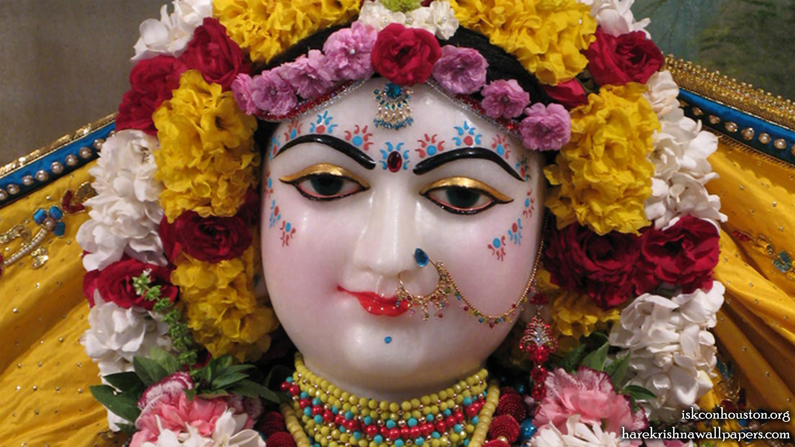Sri Radha Close up Wallpaper (002) Size 1600x900 Download