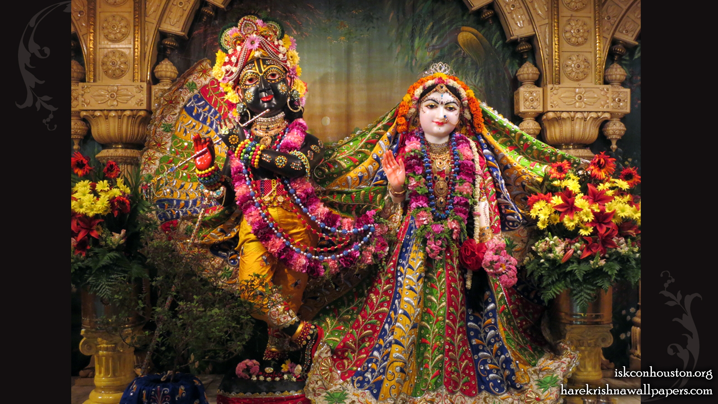 Sri Sri Radha Nilamadhava Wallpaper (010) Size 2400x1350 Download