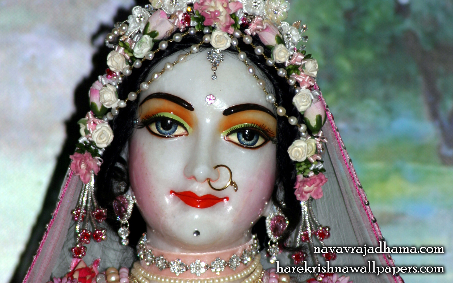 Sri Radha Close up Wallpaper (003) Size 1920x1200 Download