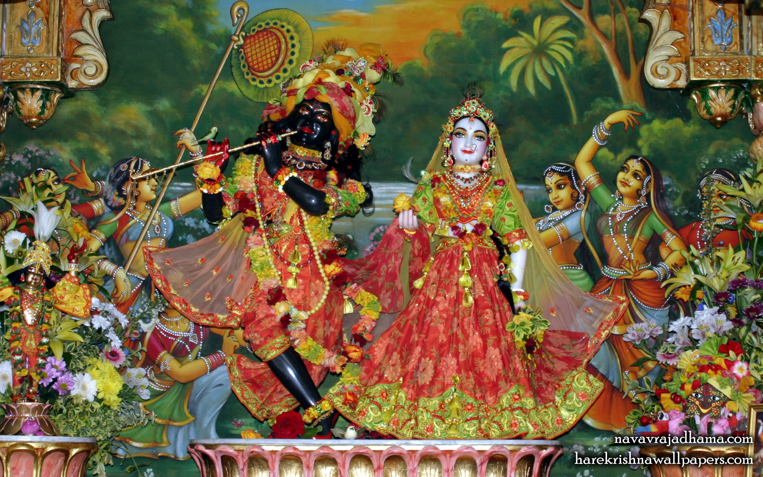 Sri Sri Radha Shyamsundar Wallpaper (003) Size 2560x1600 Download