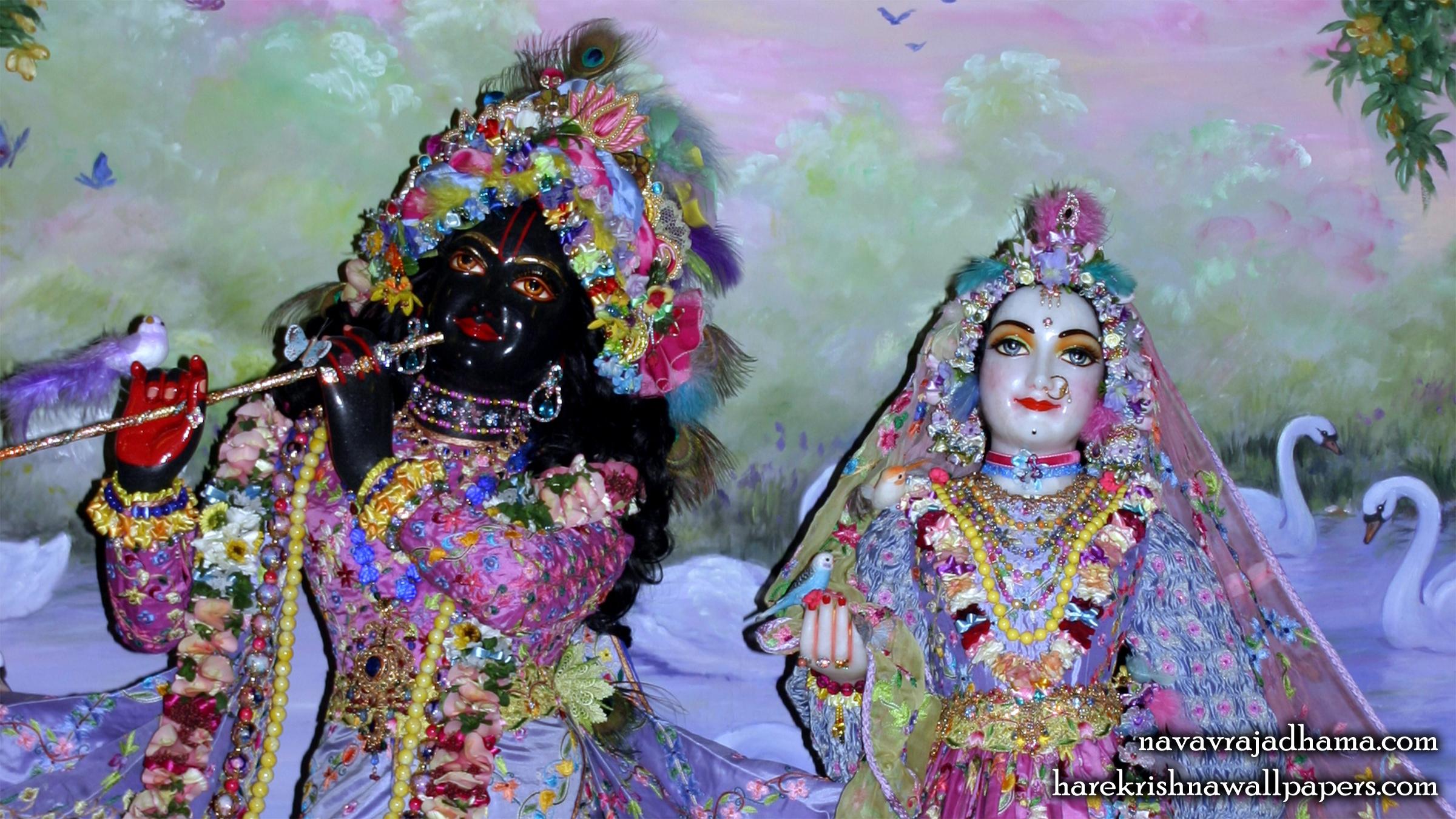 Sri Sri Radha Shyamsundar Close up Wallpaper (008) Size 2400x1350 Download