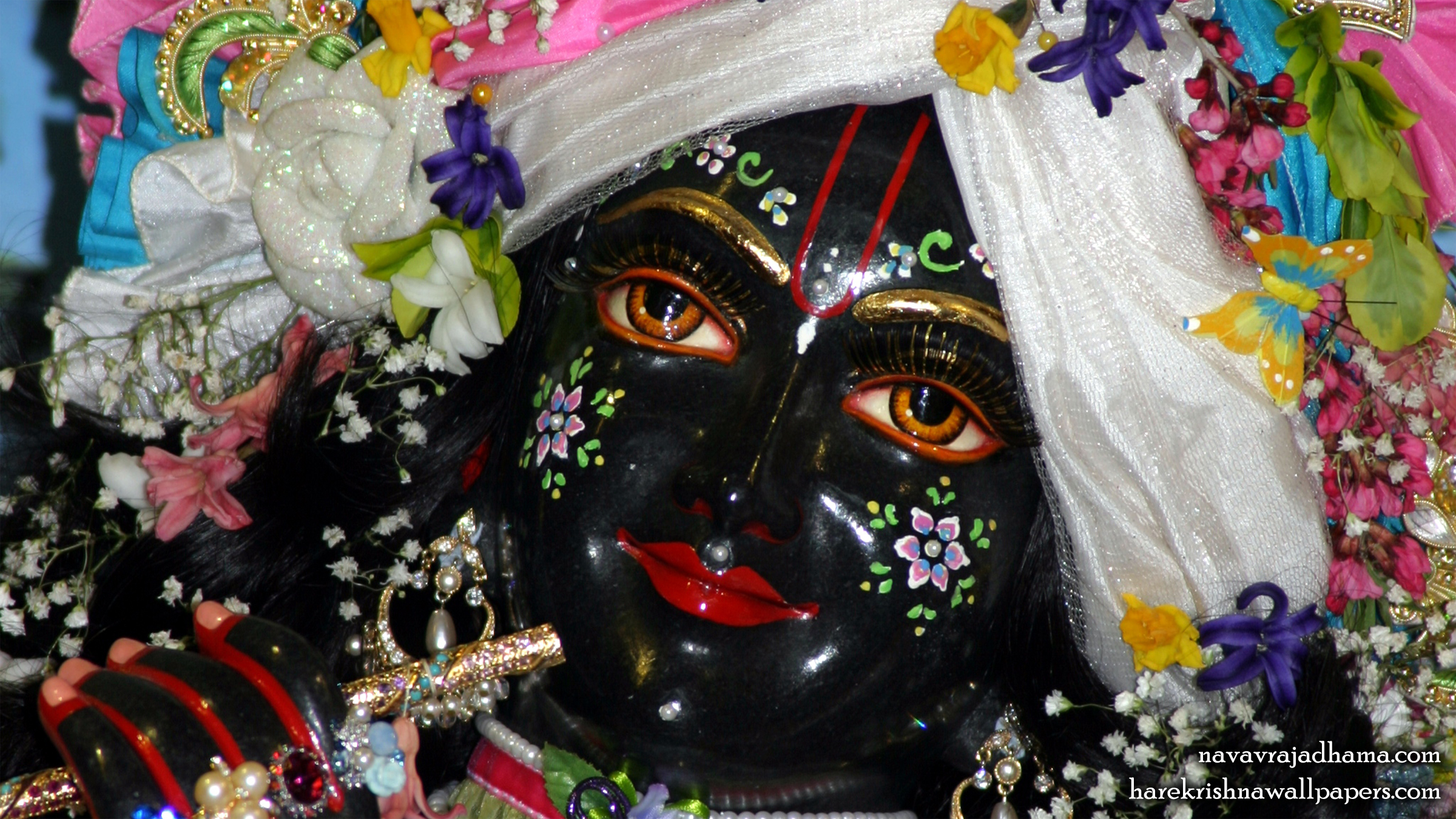 Sri Shyamsundar Close up Wallpaper (013) Size 2400x1350 Download