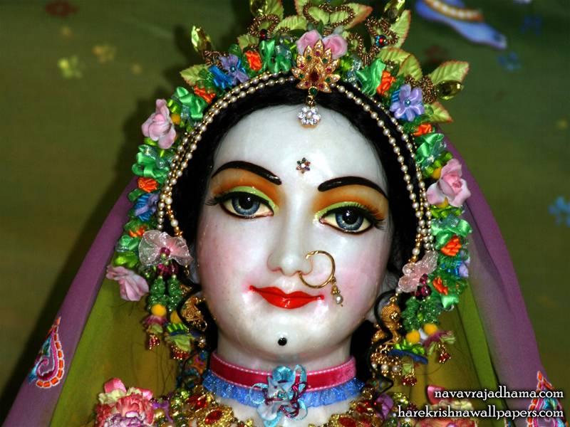 Sri Radha Close up Wallpaper (015)
