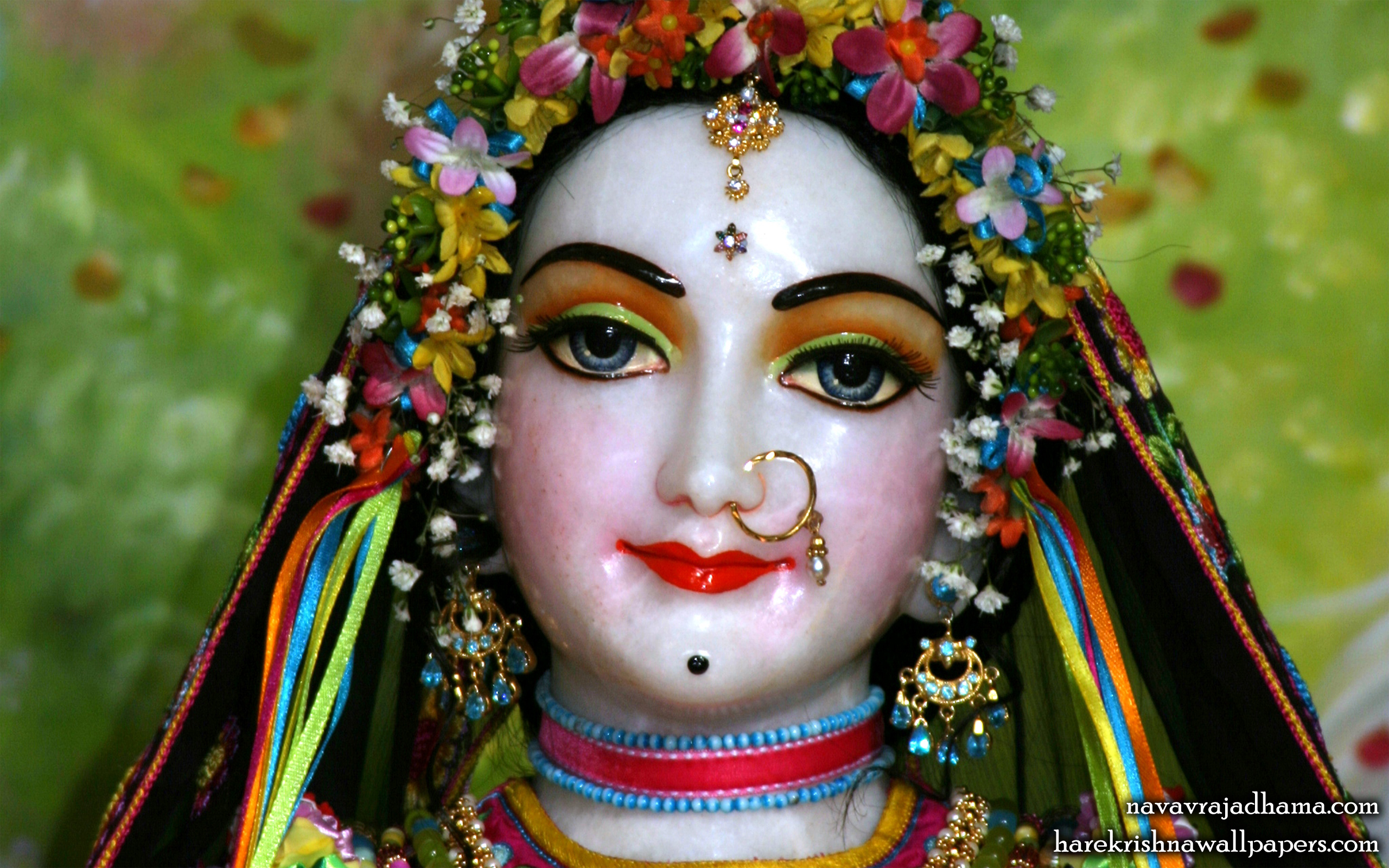 Sri Radha Close up Wallpaper (023) Size 2560x1600 Download