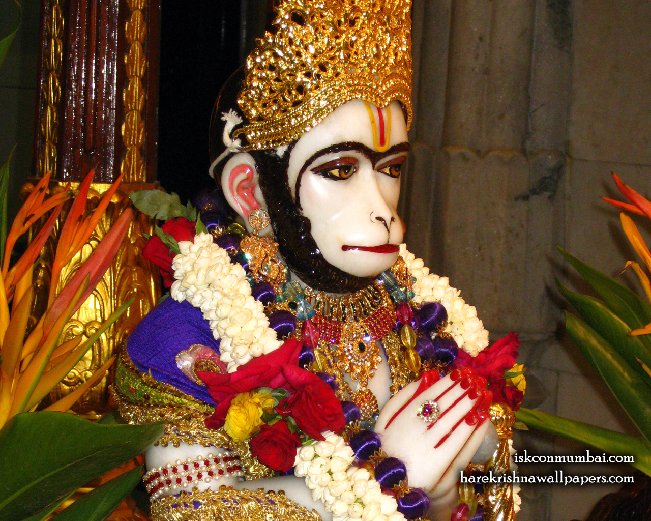 Sri Hanuman Face Wallpaper (001) Size 1280x1024 Download