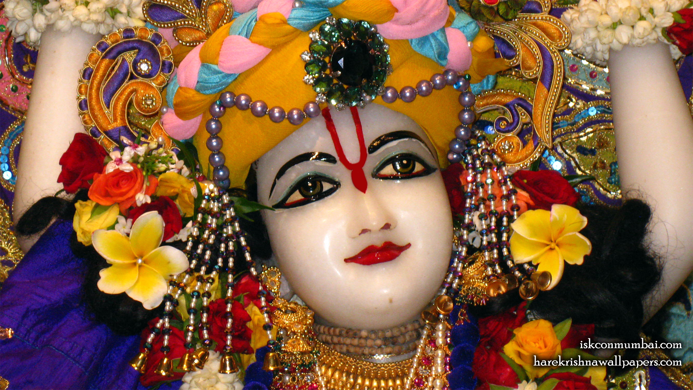 Sri Nitai Face Wallpaper (001) Size 2400x1350 Download