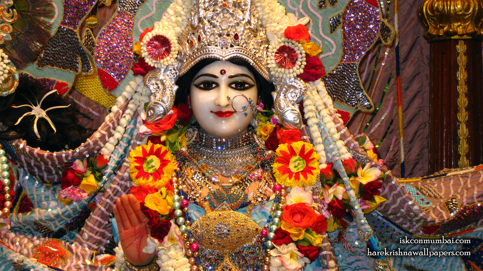 Sri Radha Face Wallpaper (001) Size 1600x900 Download
