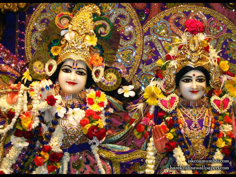 Sri Sri Radha Rasabihari Close up Wallpaper (001)
