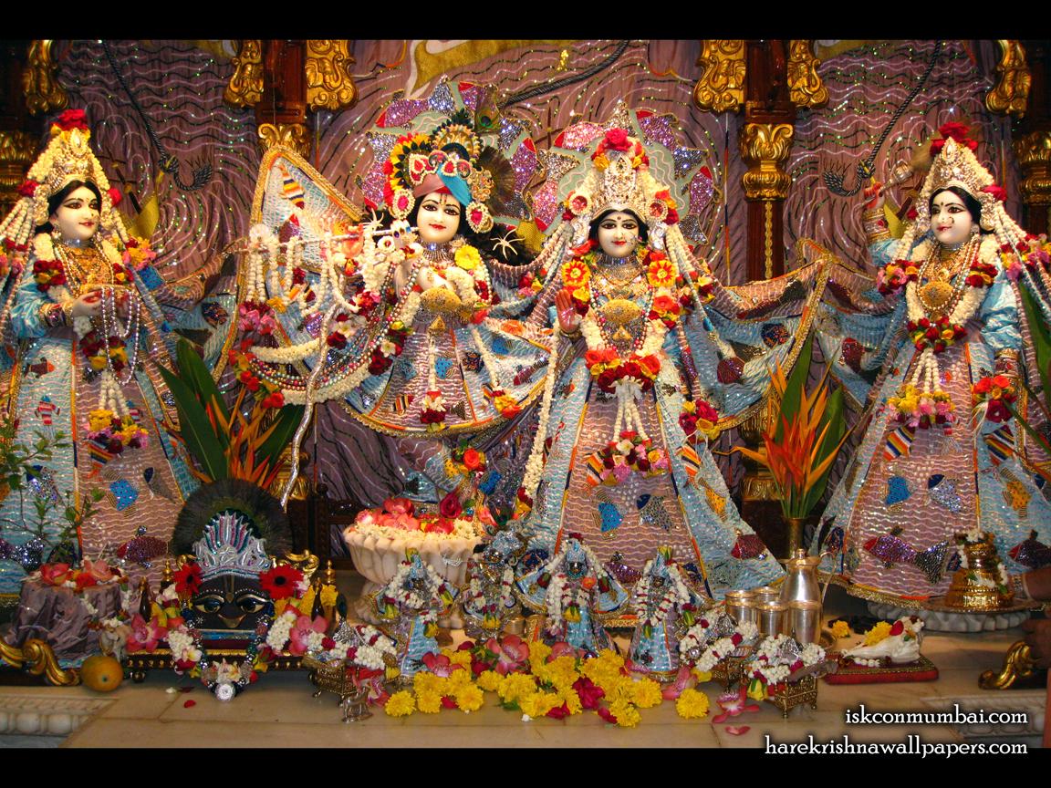 Sri Sri Radha Rasabihari Lalita Vishakha Wallpaper (001) Size 1152x864 Download