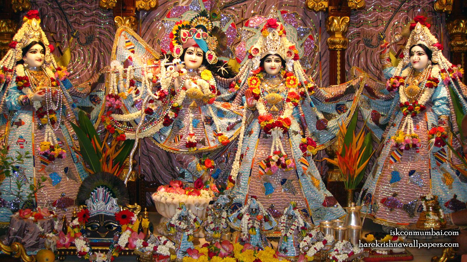 Sri Sri Radha Rasabihari Lalita Vishakha Wallpaper (001) Size 1600x900 Download