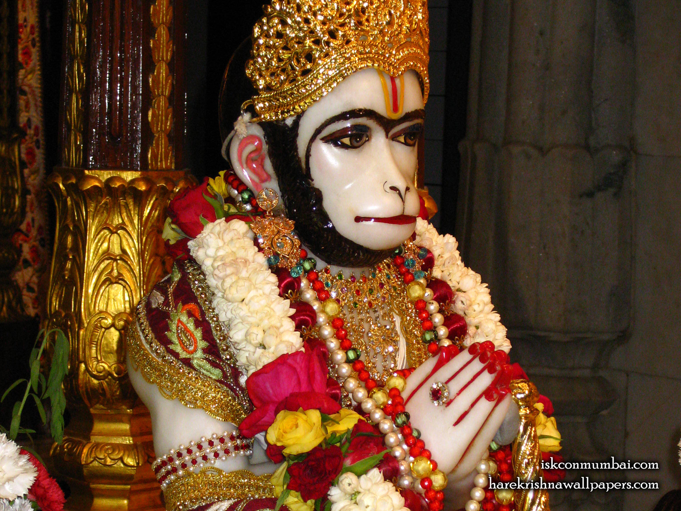 Sri Hanuman Face Wallpaper (002) Size 1400x1050 Download