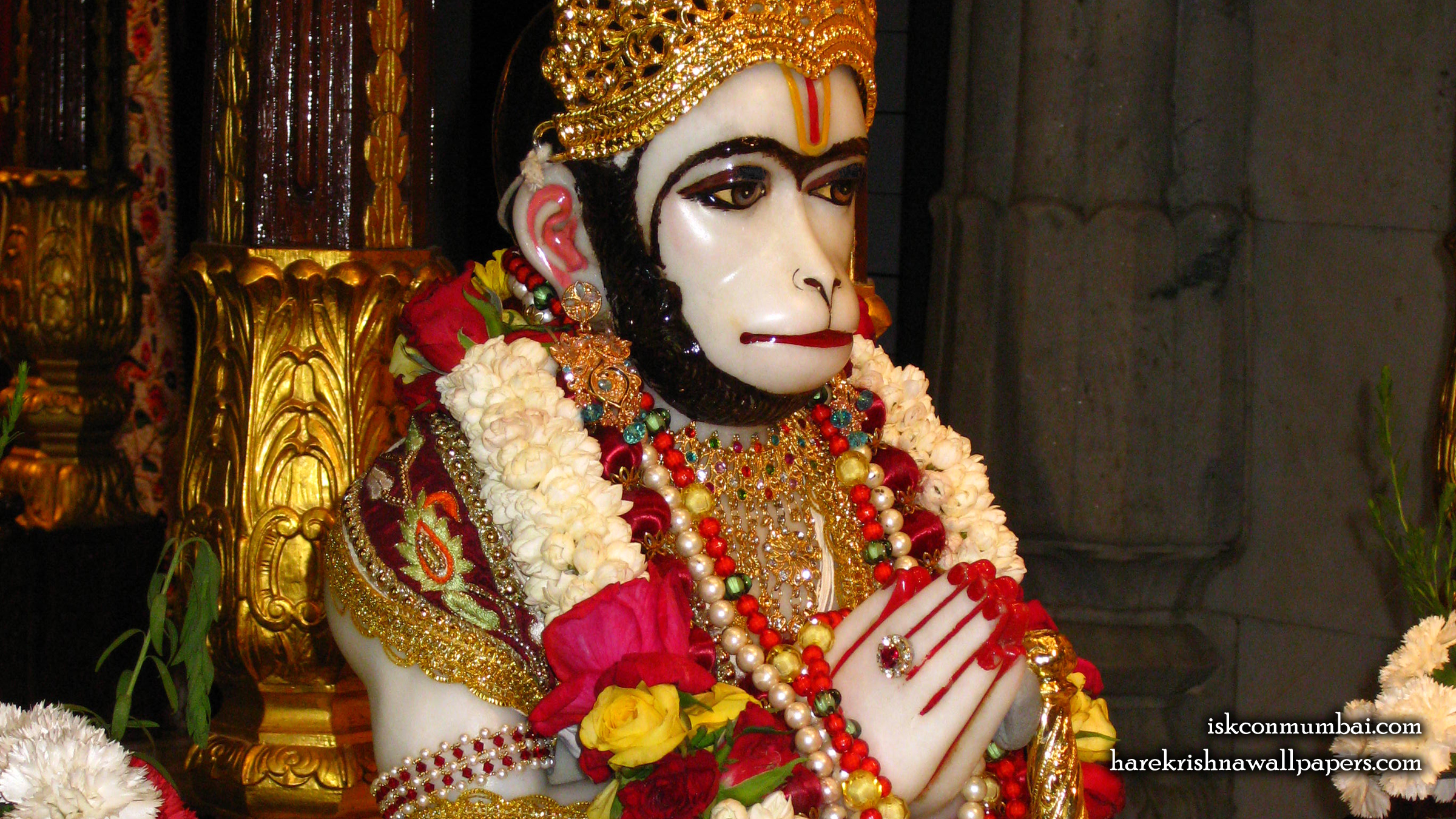 Sri Hanuman Face Wallpaper (002) Size 2400x1350 Download