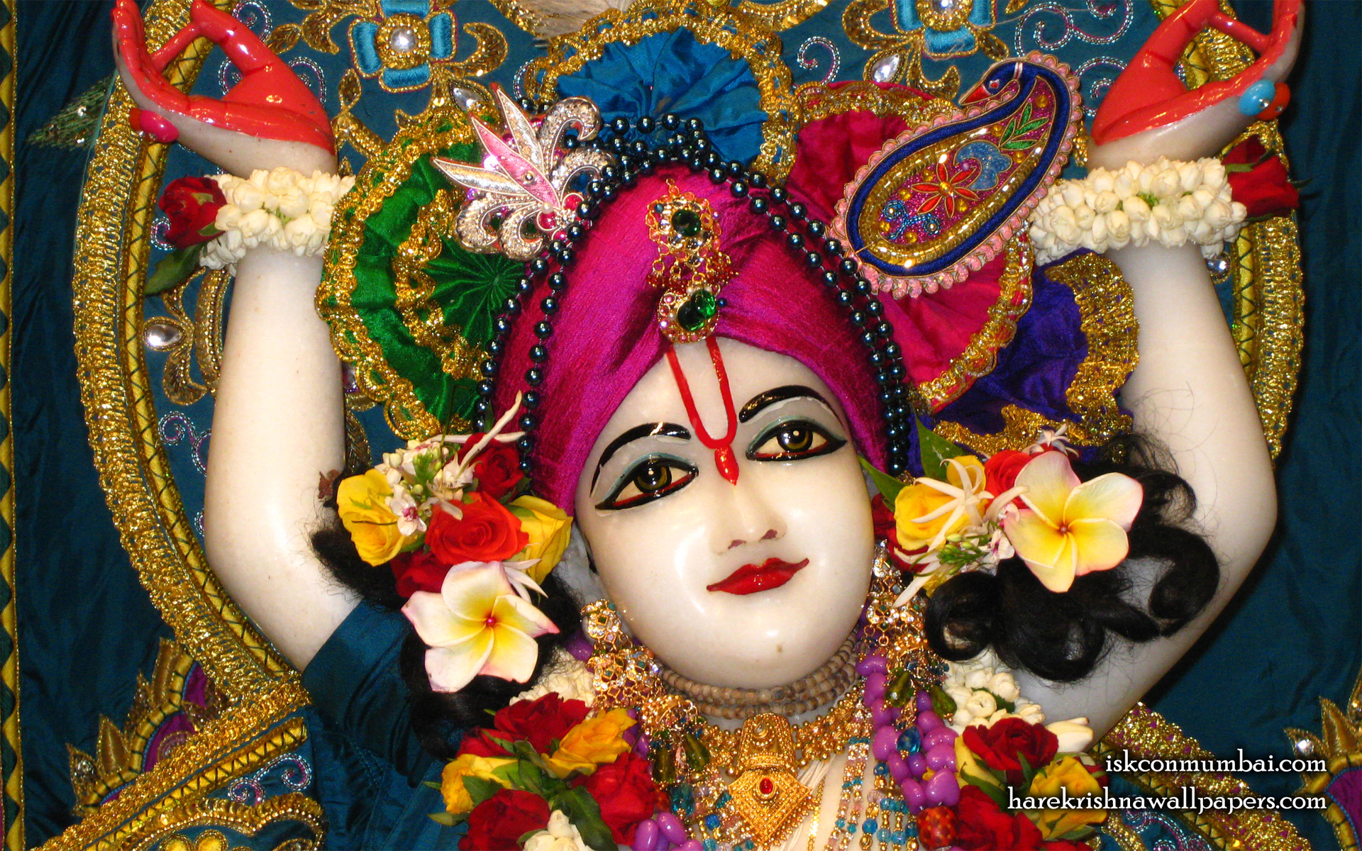 Sri Nitai Face Wallpaper (002) Size 1920x1200 Download