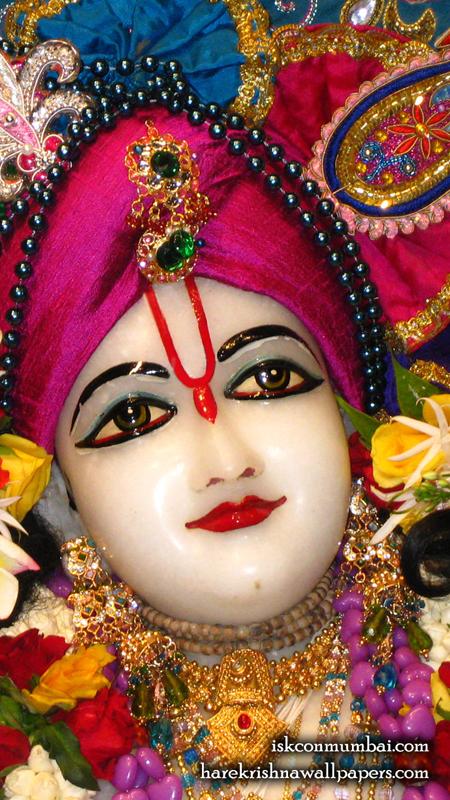 Sri Nitai Face Wallpaper (002) Size 450x800 Download